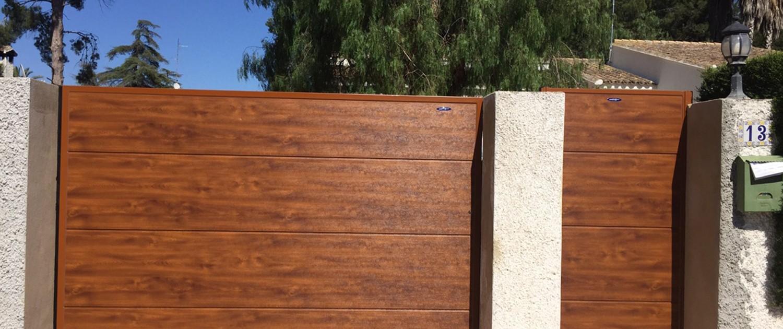 Puertas residenciales batientes